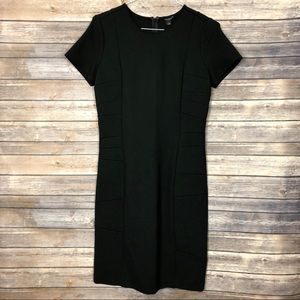 Ann Taylor | classic Black Ponte Dress LBD 10